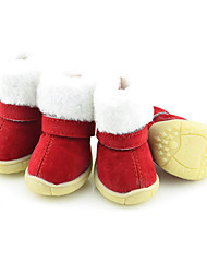 Dog Boots / Shoes Keep Warm Snow Boots Christmas New Year's Solid For Pets