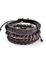 cheap -Men's Leather Bracelet Jewelry Basic Vintage Bohemian Adjustable Rock Cute Style Handmade Costume Jewelry Leather Circle Geometric Jewelry