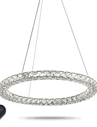 cheap -Modern Ring Crystal Pendant Lights LED Crystal Chandeliers Ceiling Light Indoor Lamps Fixtures Dimmable with Remote Control