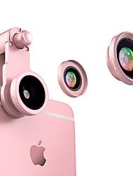 Flash vison lentes de câmera do visor lente 0,65x grande angular 10x lentes de peixe para ipod iphone huawei xiaomi samsung