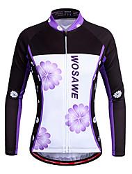 preiswerte -WOSAWE Damen Langarm Fahrradtrikot - Violett Fahhrad Trikot/Radtrikot, Rasche Trocknung