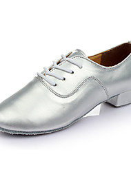 "Men's Latin Leatherette Heel Indoor Customized Heel Silver 1"" - 1 3/4"" Customizable"