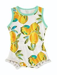 Baby Fashion Print One-PiecesCotton Summer Short Sleeve