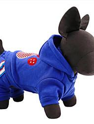 economico -Cane Tuta Abbigliamento per cani Casual Americano / Stati Uniti d'America Rosso Blu Costume Per animali domestici