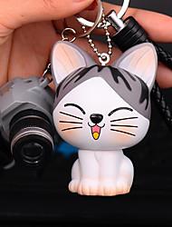 Saco / telefone / chaveiro encantos gato câmera cartoon brinquedo telefone cinto pvc