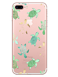 cheap -Case For Apple iPhone X iPhone 8 Transparent Pattern Back Cover Animal Soft TPU for iPhone X iPhone 8 Plus iPhone 8 iPhone 7 Plus iPhone