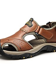 Men's Sandals Comfort Summer Fall Nappa Leather Upstream Shoes Casual Dress Outdoor Light Brown Under 1in