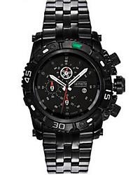 Недорогие -Муж. Модные часы Кварцевый Горячая распродажа Нержавеющая сталь Группа На каждый день Черный Белый Серебристый металл Золотистый