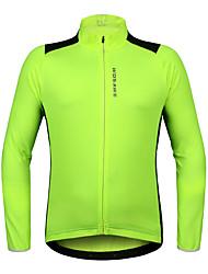 WOSAWE Maglia da ciclismo Unisex Manica lunga Bicicletta Maglietta/Maglia Top Asciugatura rapida Traspirabilità Elastico Poliestere