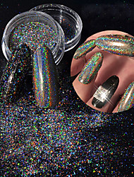 1PC Nail Art  Laser 7 Colour Thick Slices 0.2g