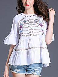 T-shirt Da donna Casual Semplice Con stampe Rotonda Cotone Mezza manica