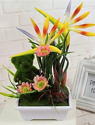 economico -1 Ramo Tessuto sintetico Orchidee Fiori da tavolo Fiori Artificiali
