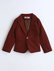 Boys' Solid Suit & Blazer,Cotton Spring Fall Long Sleeve