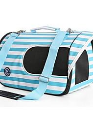 Недорогие -Кошка Собака Переезд и перевозные рюкзаки Животные Корпусы Компактность Дышащий В полоску Красный Синий Розовый