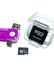 cheap -16GB MicroSDHC TF Memory Card with 2 in 1 USB OTG Card Reader Micro USB OTG