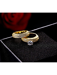 cheap -Women's Band Rings AAA Cubic Zirconia Vintage Luxury Elegant Cubic Zirconia Circle Jewelry For Wedding Party Engagement Ceremony Evening