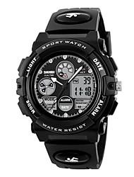 SKMEI Men's Kid's Sport Watch Digital Watch Digital Calendar Water Resistant / Water Proof Stopwatch PU Band Black