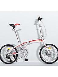 Falträder Radsport 16 Drehzahl 20 Zoll Micro 24 Scheibenbremsen Ohne Dämpfung Aluminiumgemisch Rahmen Faltbar gewöhnlich Rutschfest
