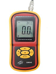 Digital Grain Moisture Meter With Measuring Probe Gm640 Portable Lcd Hygrometer Humidity Tester