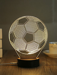 cheap -1 Set, Popular Home Acrylic 3D Night Light LED Table Lamp USB Mood Lamp Gifts, football