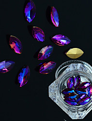 cheap -1Bottle Fashion Nail Art DIY Beauty Flame Crystal Rhinestones Horse Eye Purple Flame Shining Crystal Rhinestones Charm Decoration Manicure Beauty
