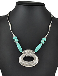 Women's Pendant Necklaces Statement Necklaces Turquoise Geometric Drop Jewelry Turquoise Alloy Basic Fashion Vintage Bohemian