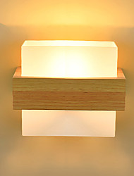 cheap -5 E27 Simple LED Novelty Country Feature for LED Mini Style Eye Protection Ambient Light Sconces Bedside Night Light Creative Balcony Wall Lamp