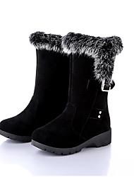 Недорогие -Для женщин Ботинки Удобная обувь Зима Ткань Повседневные На плоской подошве Черный На плоской подошве