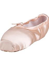 cheap -Women's Ballet Silk Full Sole Practice Flat Heel Blushing Pink