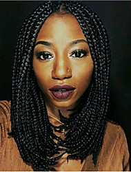 cheap -14inch Box braids bob wig natural wig Box Braid Wig with Bangs synthetic braiding hair wigs 1pc