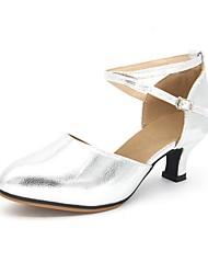 Women's Modern Synthetic Microfiber PU Sandal Outdoor Low Heel Gold Silver Customizable