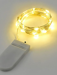 cheap -2W String Lights 2M 20LEDs Warm White White RGB Red Yellow Blue Green Battery Powered (Battery Not Include)