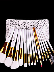 cheap -MSQ Make-Up Pinsel Set Professionelle 15 stcke Weiche Synthetische Haar Natrliche Holzgriff Bilden Pinsel Kit Mit Pu-leder fall