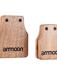Ammoon Large & Medium 2pcs Cajon Box Drum Companion Accessory Castanets for Hand Percussion