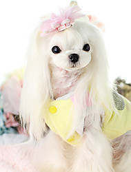 cheap -Dog Vest Dog Clothes Cartoon Beige Yellow Cotton Down Costume For Pets Casual/Daily