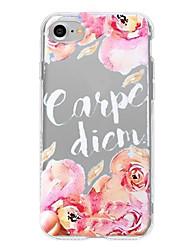 Caso per il iphone 7 più il iphone 6 parola / frase la shell morbida del telefono del modello di fiore per iphone 7 iphone 6 / 6s più
