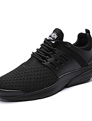 cheap -Men's Athletic Shoes Running Comfort Tulle Fall Winter Athletic Casual Outdoor Gore Flat Heel Ruby Black White Flat