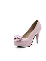 Недорогие -Для женщин Обувь на каблуках Удобная обувь Оригинальная обувь Весна Осень Дерматин Полиуретан Для праздника Для вечеринки / ужина Бант На