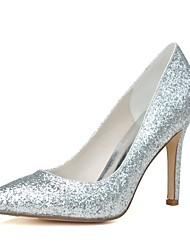 preiswerte -Damen Schuhe Glitzer Paillette Frühling Sommer Pumps Hochzeit Schuhe Stöckelabsatz Spitze Zehe für Hochzeit Party & Festivität Gold Silber