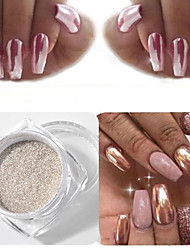 1PC Import Nail Art Silver The Magic Mirror Powder Rose Gold 1g