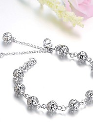 cheap -Women's Silver Plated Ball Charm Bracelet - Cute Style Silver Bracelet For Wedding Party Daily