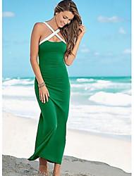 cheap -Women's Party Daily Bodycon Sheath Dress,Solid Asymmetrical Maxi Short Sleeves Others Summer Mid Rise Micro-elastic Medium