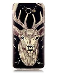 baratos -Capinha Para Samsung Galaxy J7 Prime J5 Prime Brilha no Escuro Estampada Capa Traseira Animal Macia TPU para J7 (2016) J7 Prime J5 (2016)