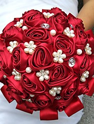 "cheap -Wedding Flowers Bouquets Wedding Polyester Satin 9.84""(Approx.25cm)"