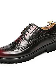 Недорогие -Для мужчин обувь Кожа Осень Зима Формальная обувь Туфли на шнуровке Для прогулок Шнуровка Назначение Свадьба Повседневные Для вечеринки /