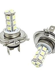 abordables -2pcs H4 Automatique Ampoules électriques 3W SMD 5050 300lm Lampes frontales Lampe Frontale