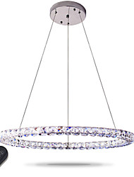 cheap -Modern LED Ring Crystal Pendant Lights Modern Crystal Chandeliers Ceiling Light Indoor Lamp Fixtures Dimmable with Remote Control