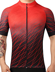 cheap -FUALRNY® Cycling Jersey Men's Short Sleeves Bike Jersey Top Bike Wear Quick Dry Breathability Mountain Cycling Road Cycling Recreational