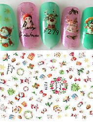 1 Adesivi per manicure Adesivo Effetto 3D Natale Articoli DIY Cosmetici e trucchi Fantasie design per manicure