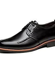 Da uomo Scarpe Di pelle Primavera Estate Autunno Inverno Comoda Scarpe formali Oxfords Lacci Per Casual Nero Marrone